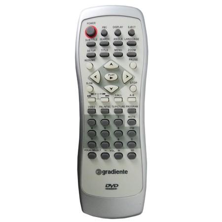 Controle Remoto Gradiente DVD D201