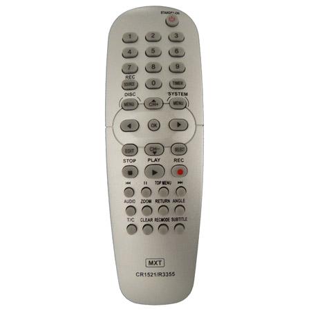 Controle Remoto PHILIPS DVD R3355 gravador