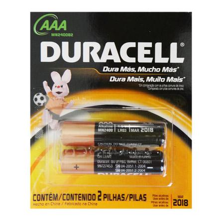 Pilha Duracell AAA x 2 unids.